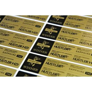 Metallic Gold Labels
