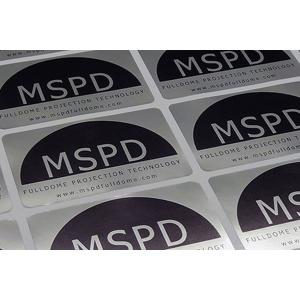 Metallic Silver Labels