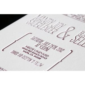 Letterpress Printed Labels