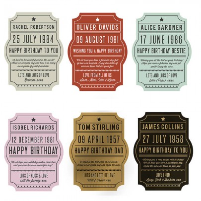 Die Cut Bottle Labels