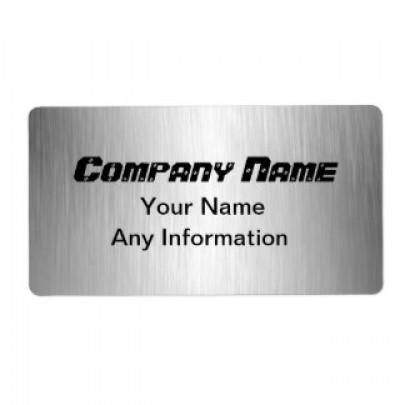 Rectangular Brushed Aluminium Labels