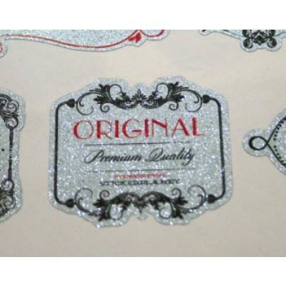 Die Cut Metallic Silver Labels