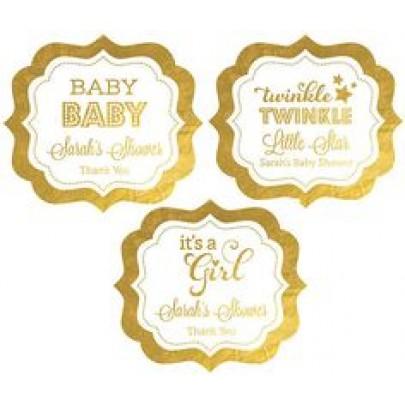 Die Cut Metallic Gold Labels