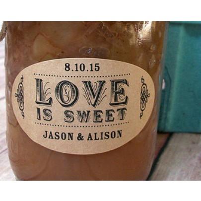 Oval Jar Labels