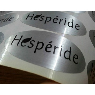 Oval Silver Labels