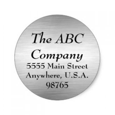 Round Brushed Aluminium Labels