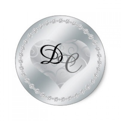 Round Metallic Silver Labels