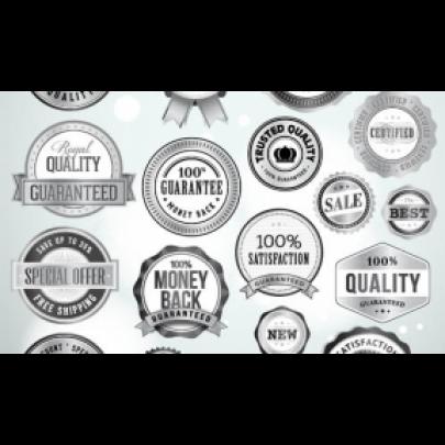 Custom Silver Labels