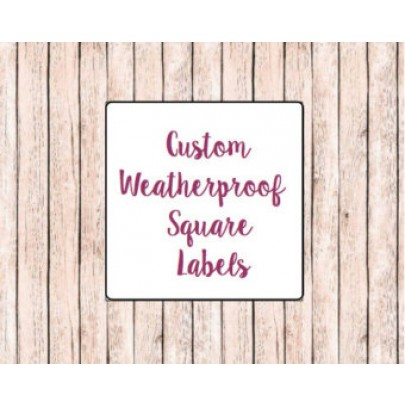 Square Bath & Beauty Labels
