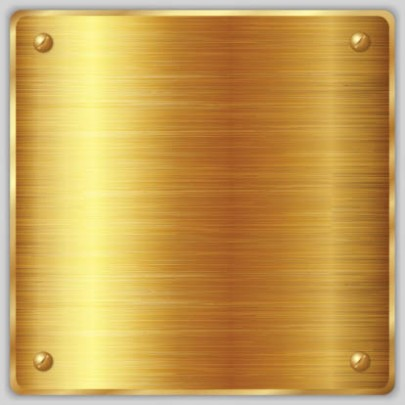 Square Metallic Gold Labels
