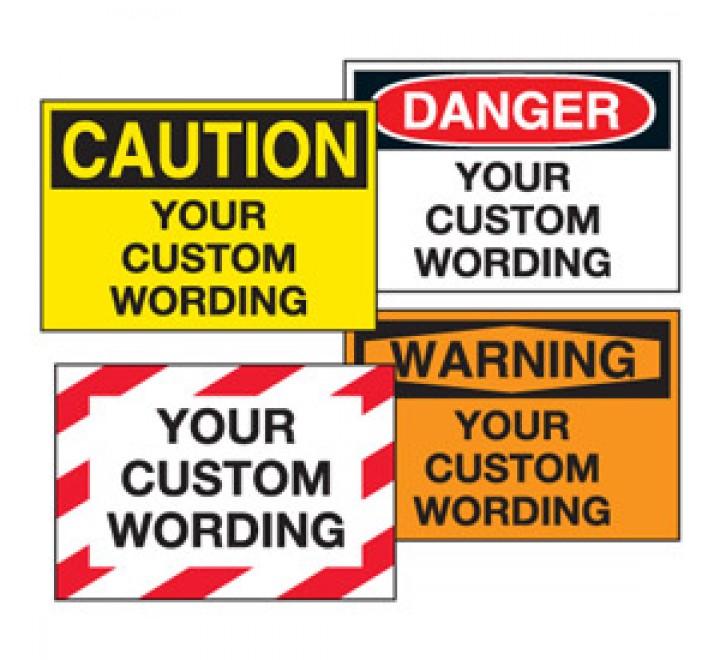 Custom Warning labels