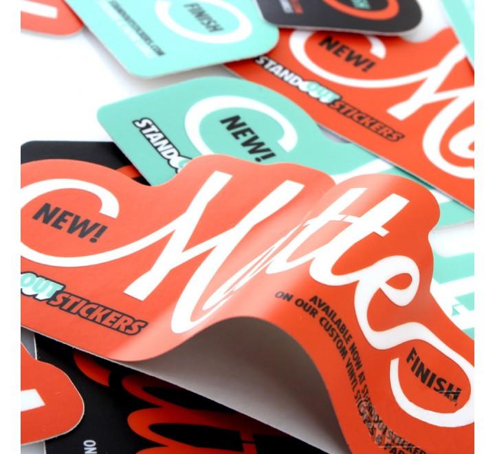 Die Cut vinyl labels