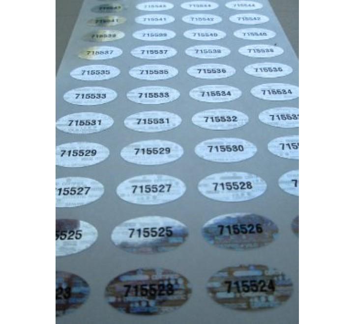 Oval Tamper Evident Security Labels