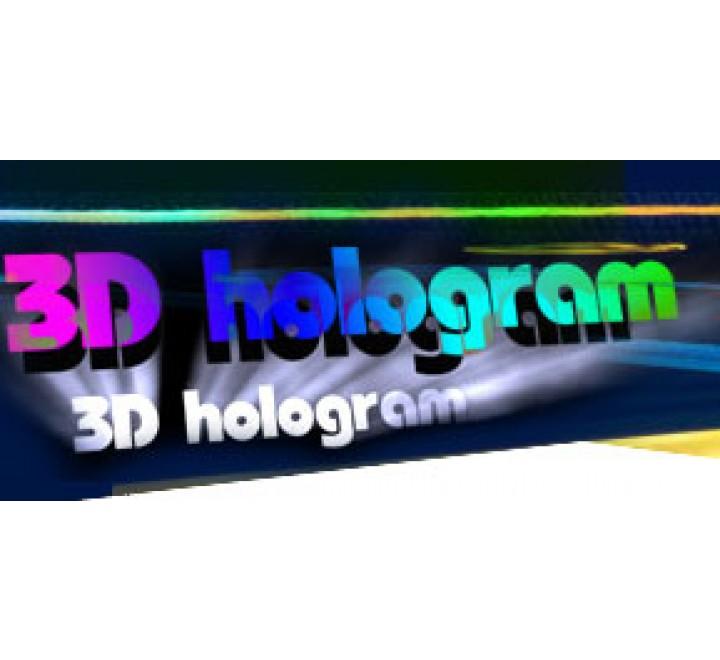 Rectangle 3D Hologram Labels