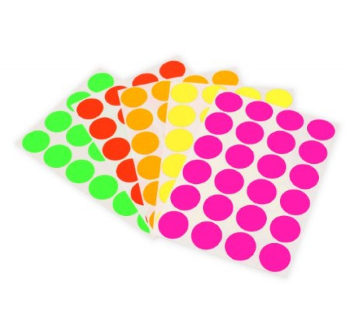 Round Fluorescent Labels