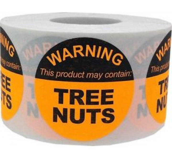 Round Warning labels