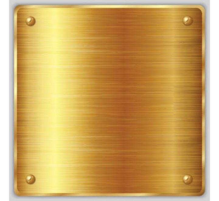 Square Metallic Gold Labels