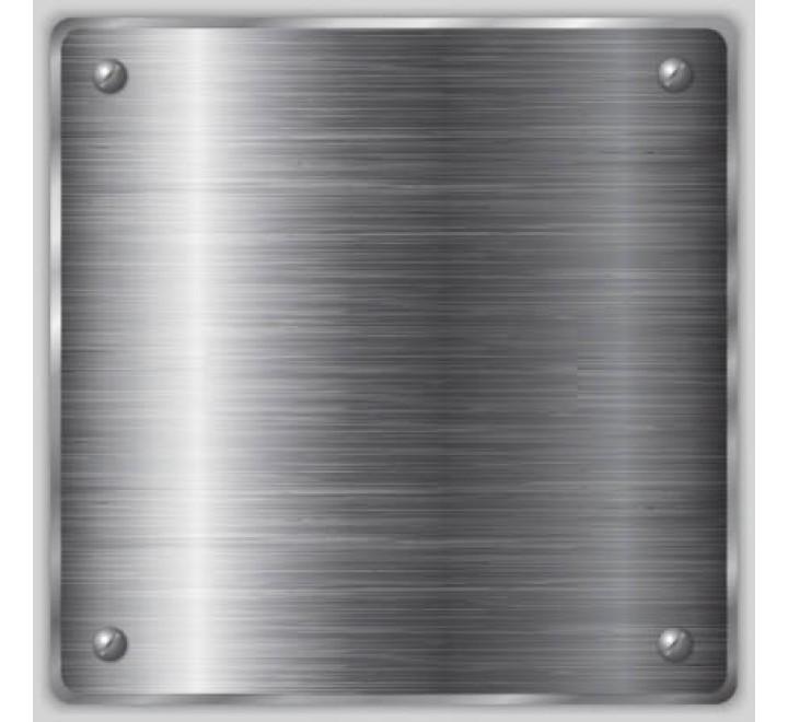 Square Metallic Silver Labels