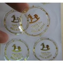 Custom Metallic Gold Labels