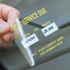 Custom Static Cling Window Labels