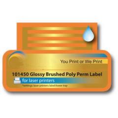 Die Cut Brushed Aluminium Labels