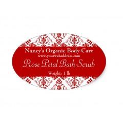 Oval Bath & Beauty Labels