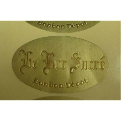 Oval Metallic Gold Labels