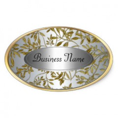 Oval Gold Labels