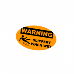 Oval Warning labels