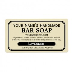 Rectangle Soap Labels