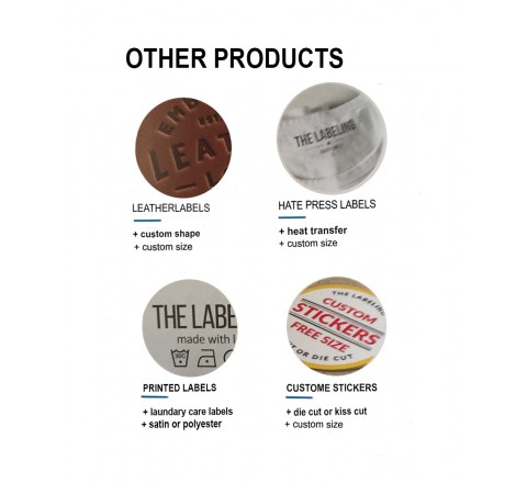 Round Woven Labels