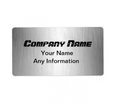 Rectangular Brushed Aluminium Labels