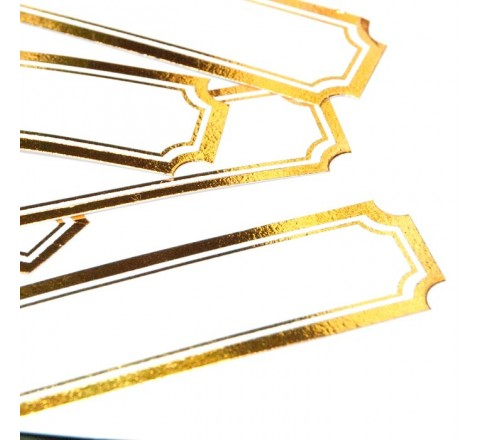 Die Cut Gold Labels