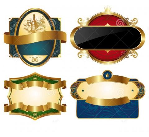 Custom Gold Labels