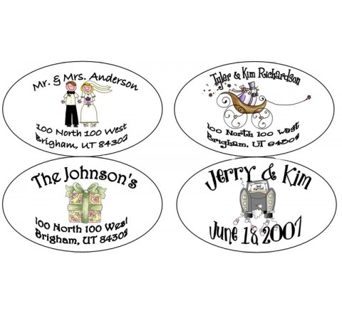 Oval Address Labels