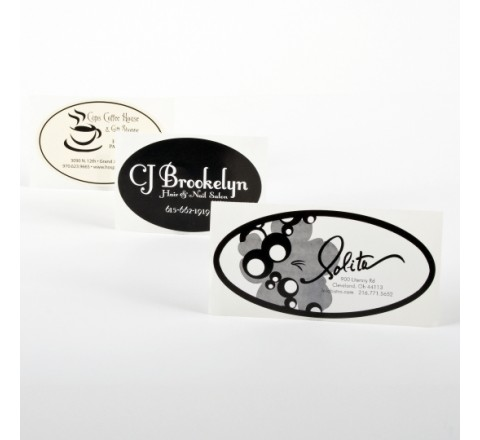 Oval Clear Labels