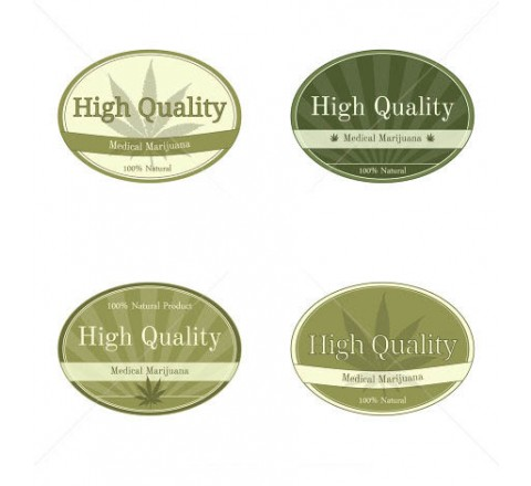 Oval Health & Beauty Labels