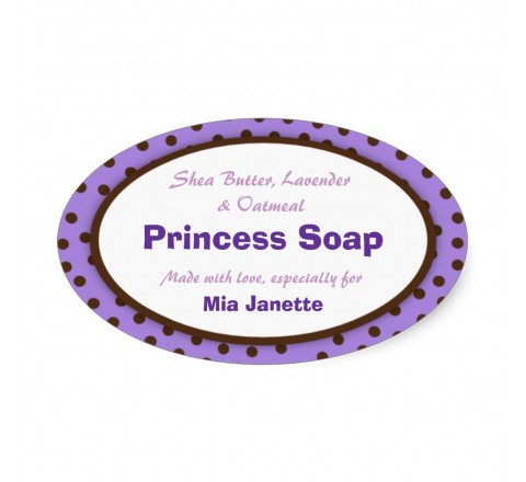 Oval Static Cling Window Labels