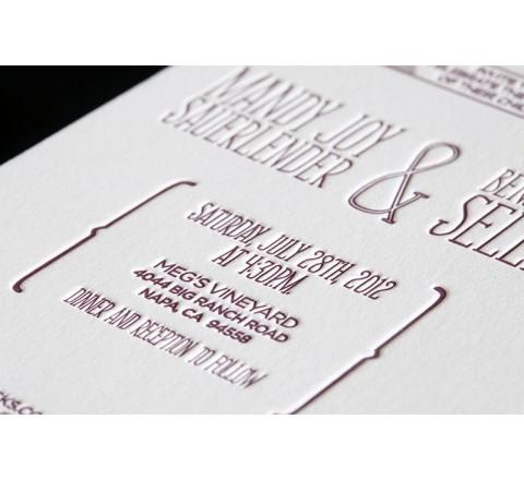Rectangle Letterpress Printed Labels
