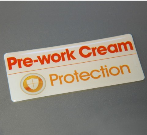 Rectangular Resin Domed Labels