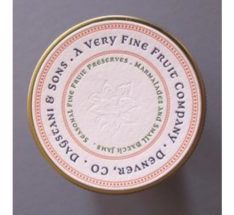 Round Letterpress Printed Labels