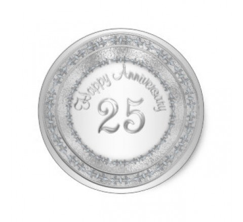 Round Silver Labels
