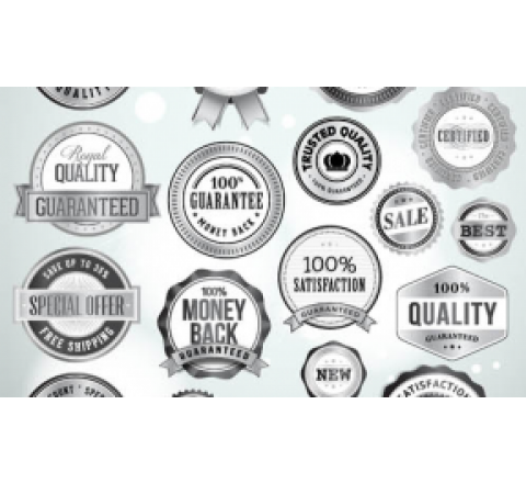 Custom Silver Labels